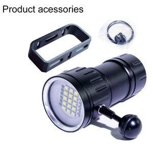 Image 5 - Đèn LED Mới Lặn Đèn Pin Sử Dụng XHP70 / L2 Hạt Đèn 20000Lumens Chống Nước Chiến Thuật Đèn Pin Chụp Ảnh Camera Chiếu Sáng