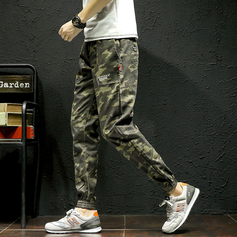 Fashion Cargo Pants For Men 2019 Spring Autumn Camouflage Casual Trousers Joggers Men's Streetwear Leisure Sweatpants