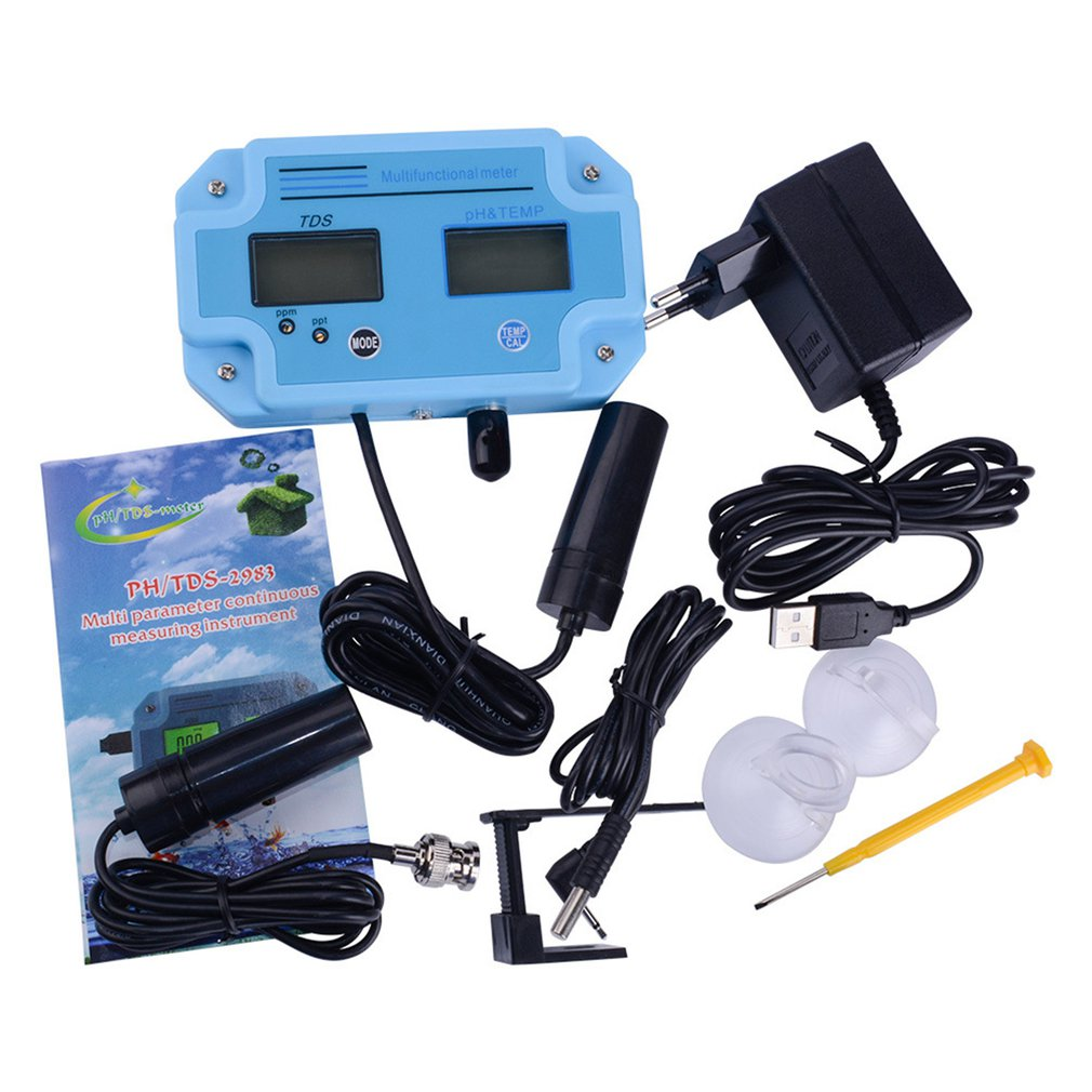 Professional Meter Water Detector 3 In 1 PH/TDS/TEMP LCD Digital Meter Water Quality Monitor Water Quality Tester