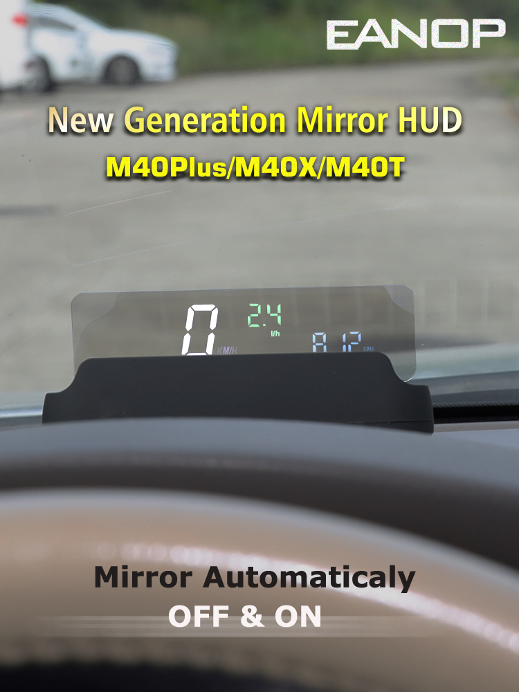Oil-Consumption Speedometer Mirror Hud Head-Up-Display Speed-Projector OBD2 Eanop M40plus