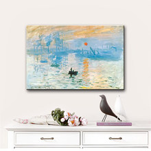 Monet-Impression murale de peinture à l'huile de renommée mondiale sur toile, Art mural décoratif