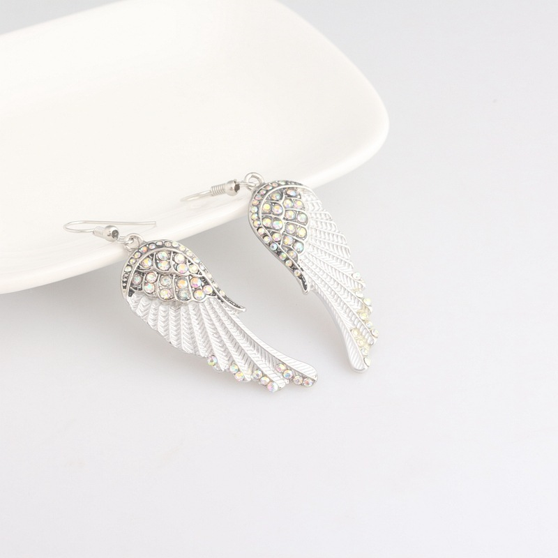 FXM Fashion white angel wings earrings creative ladies elegant female jewelry