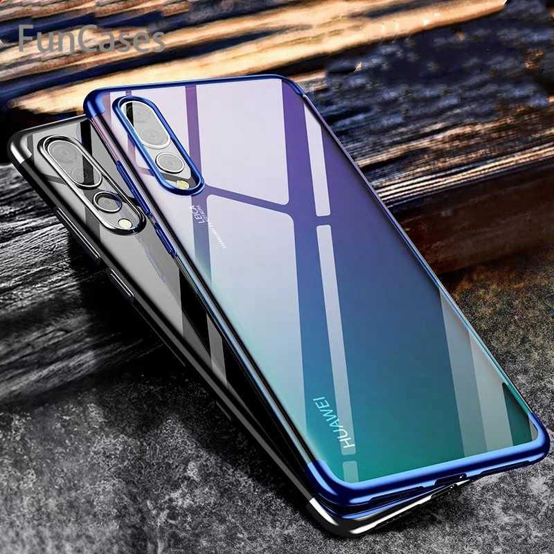 クリアソフト TPU ケース Huawei 社 Y7 Y9 Psmart 2019 P20 P30 プロ Lite Mate20lite 名誉 10 9 8X lite 8C 7A View20 シリコーンバックケース