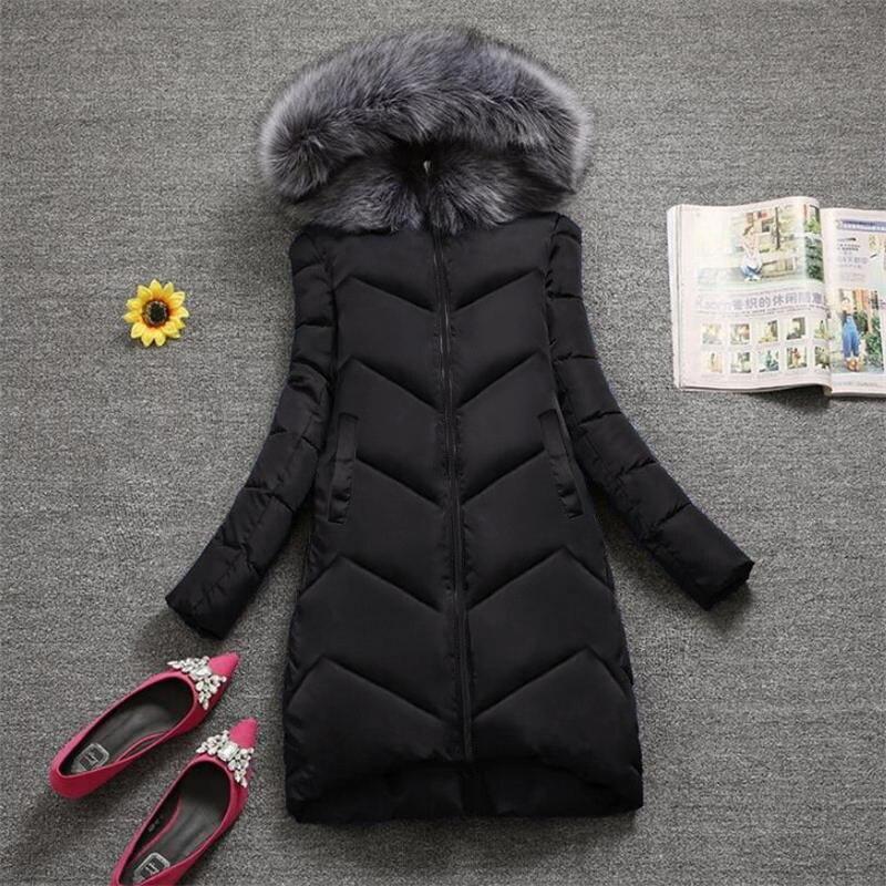 6XL 7XL Plus size Winter Jacket Women New 2019 Winter Warm Down   Parka   female Jacket Coat Artificial Fur Collar Winter Coat Women