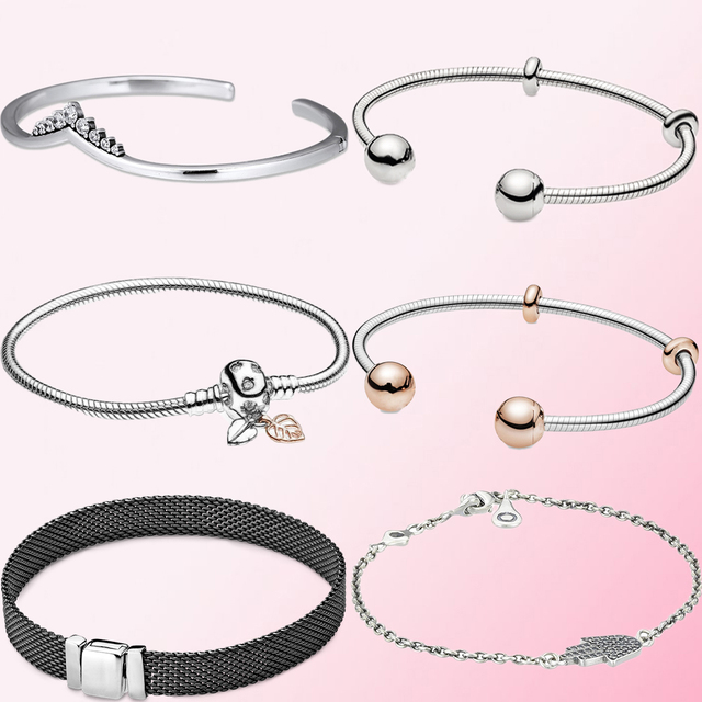 2019 Fall 100% 925 Sterling Silver 1:1 Reflexions Oxidised Mesh Bracelet Womens Fine Jewelry DIY Beaded Pendant Charm Wholesale