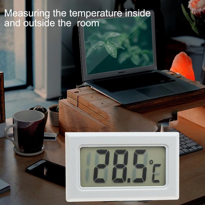 Urijk 1Pcs LCD Digital Thermometer Waterproof Aquarium thermometer 2 Seconds digital Sensor Weather Station