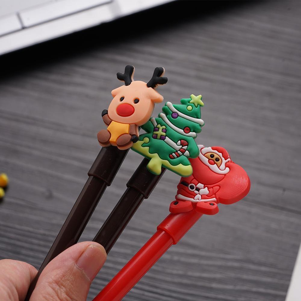 Cartoon Christmas Series Neutral Pen Creativity Student Office Signature Cute Gel Pen Stationery Kawaii School Supplies