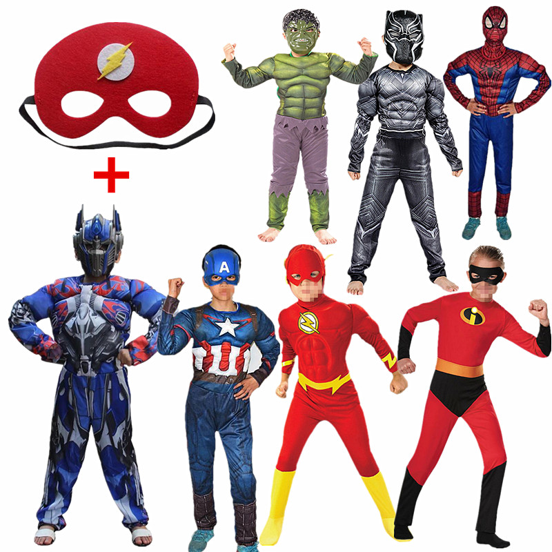 Child Super Hero Anime Movie Muscle Costume Cosplay Costume For Boys Carnival Halloween Costume 4-12Y