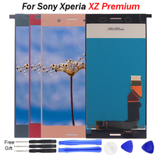 For SONY Xperia XZ Premium LCD Display Touch Screen Digitizer Assembly XZ premium Screen LCD G8141 G8142 Display Screen Replace 4 6 white or black for sony xperia z3 mini compact d5803 d5833 lcd display touch digitizer screen assembly sticker
