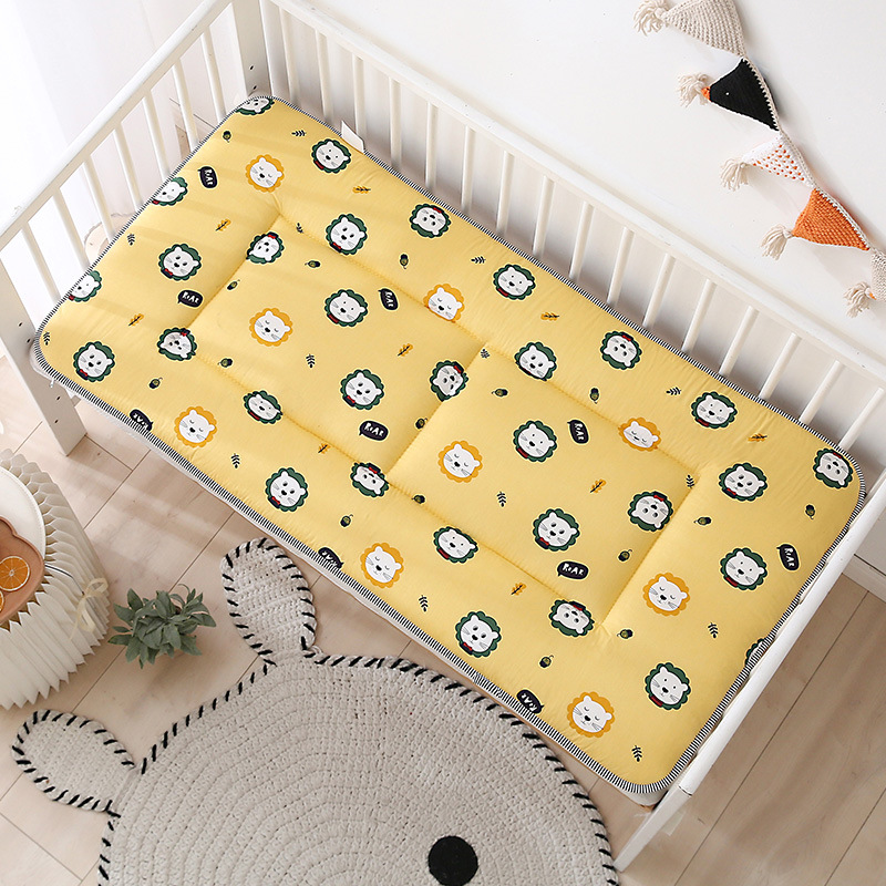 Baby Bedding Set  Boys Girls Crib Mattress Pad Bed Linens Double Sides Cotton Toddler Mesh Infant Bed Set 140x70cm Play Mat