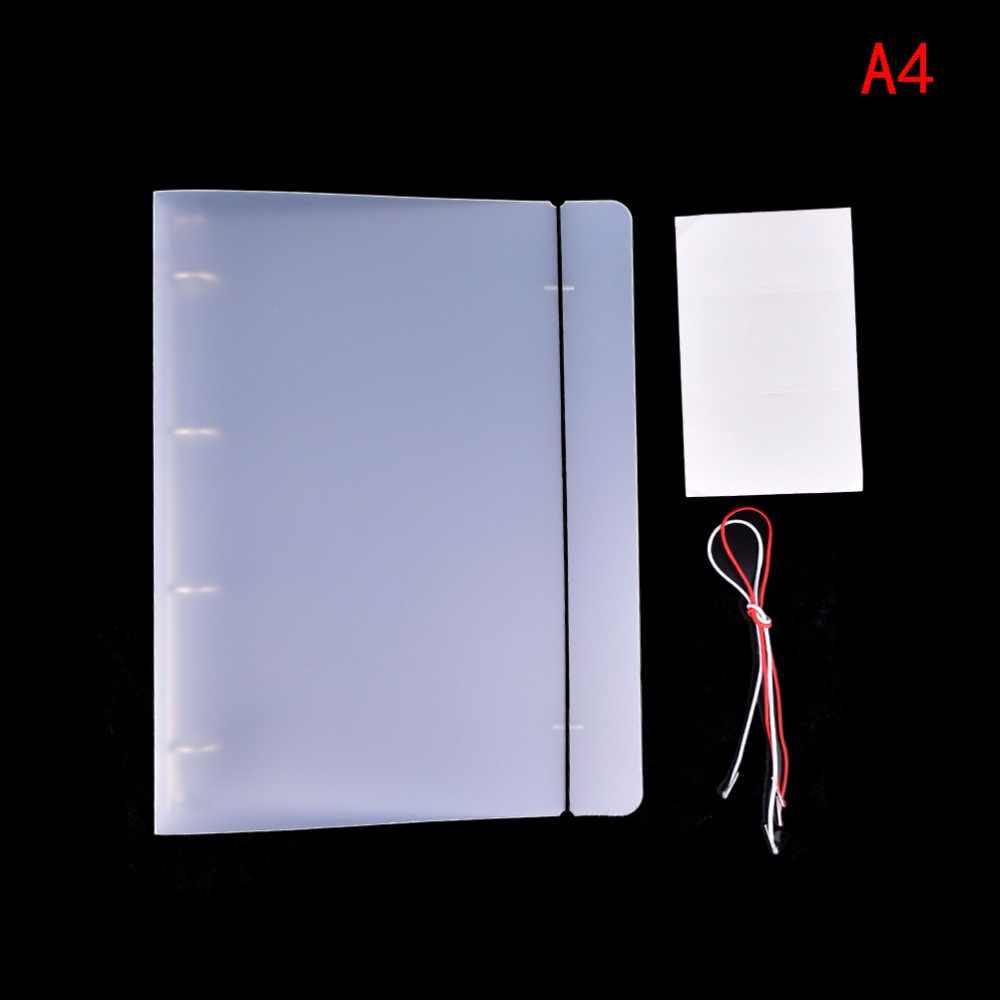 32*24.5*3.5cm פלסטיק קליפ תיקיית קובץ שקוף צבע פלסטיק מחברת יומן עלה רופף טבעת בינדר יומן מתכנן כיסוי A4