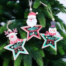 Get more info on the Christmas Wooden Five-Pointed Star Ornaments Christmas Tree Hanging Decoration Pendant Party DecorationCM