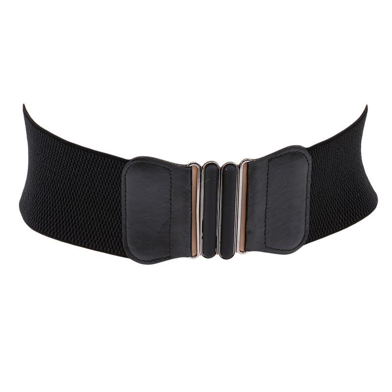1PC Fashion Spring Autumn Women Lady Fashion Metallic Color Soft PU Leather Wide Belt Square Buckle Wrap Waist Mujer Dress