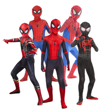 New Spider Man Far From Home Cosplay Costume Zentai Spiderman Superhero Bodysuit Spandex Suit for Adult/ Kids Custom Made spiderman cosplay lycra zentai costumes muscles costume custom made tights adult catsuit men spiderman costumes new kids