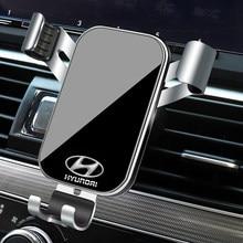 1 pçs suporte do telefone carro gravidade sensing ventilação de ar montagem suporte acessórios para hyundai i10 i20 i30 i40 ix20 ix35 tucson solaris