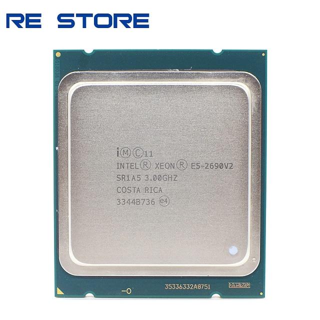 Б/у Intel E5 2690 v2 процессор SR1A5 3,0 ГГц 10 ядерный 25 Мб разъем LGA 2011 ЦП Xeon