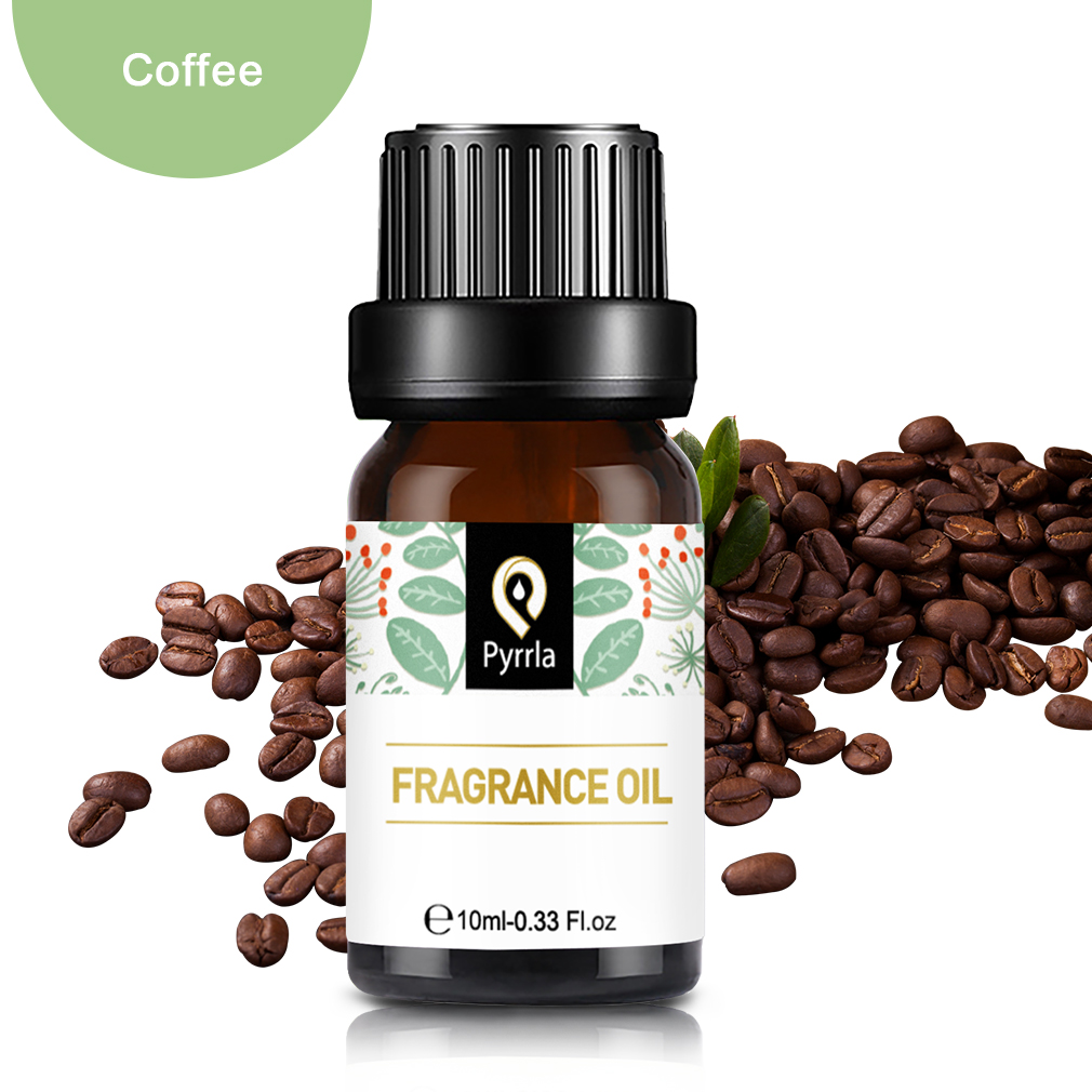 Pyrrla 10ml Coffee White Musk Sandalwood Fresh Linen Essential Oil Flower Fruit Fragrance Oil For Aromatherapy Lamp Humidifier