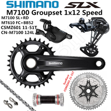 시마노 DEORE SLX M7100 그룹 세트 32T 34T 170 175mm 크랭크 셋 마운틴 바이크 그룹 세트 1x12 스피드 10 51T M7100 리어 디레일러