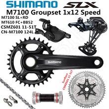 SHIMANO DEORE SLX M7100 Groupset 32T 34T 170 175mm CranksetจักรยานเสือภูเขาจักรยานGroupset 1x12 Speed 10 51T M7100 ด้านหลังDerailleur