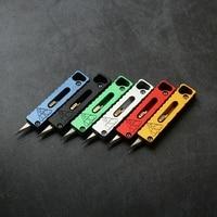 1 adet taşınabilir Mini alüminyum alaşım bıçak emniyet kilidi mıknatıs yardımcı bıçak kağıt bıçak Unboxing bıçak EDC araçları