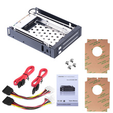 """Dual Bay 2.5"""" Inch SATA III Hard Drive HDD & SSD Tray Caddy Internal Mobile Rack Enclosure Docking Station Hot Swap for Win7/8"""