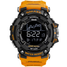 SMAEL Men Watches Water Resistant Military SportS Watches Men Led Digital Watches Electronic Wristwatches1802 relogio masculino cheap 22cm Plastic Buckle 5Bar 19mm ROUND 22mm smael watch 1802 No package 57mm Rubber Acrylic Stop Watch Back Light Shock Resistant