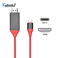 Kebidu USB Type C Adapter USB3.1 4K HDMI-compatible Converter for MacBook Samsung Galaxy S9/S8/Note 9 Huawei USB-C Cable