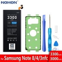 NOHON batería para Samsung Galaxy Note 8 a 4 3 Note3 NFC N9000 N9005 N9006 Note4 N9100 N910X N910F Note8 N9500 N9508 N950F Bateria