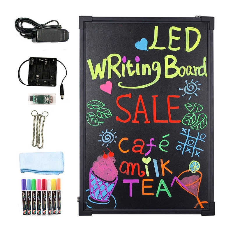 Remote 24/'/' Inch Flashing Illuminated Erasable LED Neon Sign Menu Writing Board