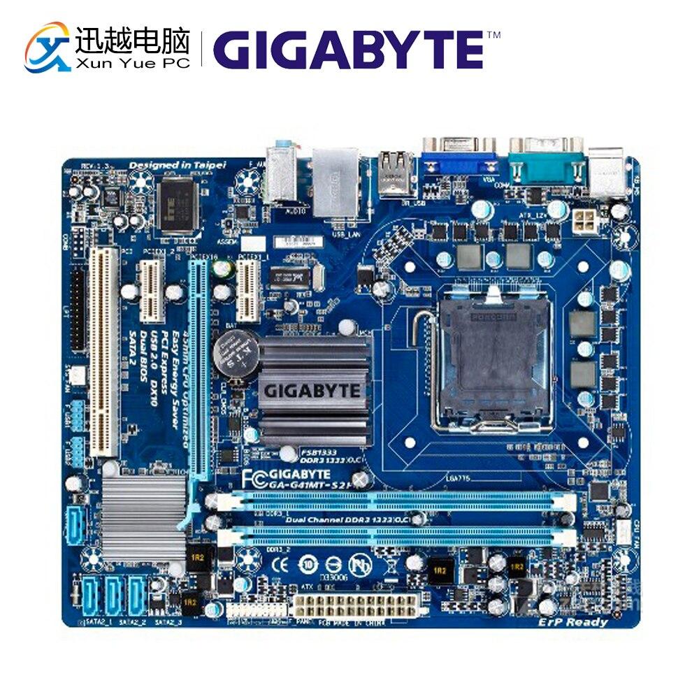 Gigabyte GA-G41MT-S2P Desktop Motherboard G41MT-S2P G41 LGA 775 Core 2 Quad Extreme Duo DDR3 8G SATA2 USB2.0 VGA Micro-ATX