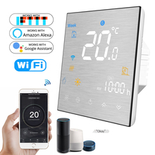 WiFi Smart Thermostat Temperature Controller Heating Water Gas Boiler Water Electric Floor Works with Alexa Google Home