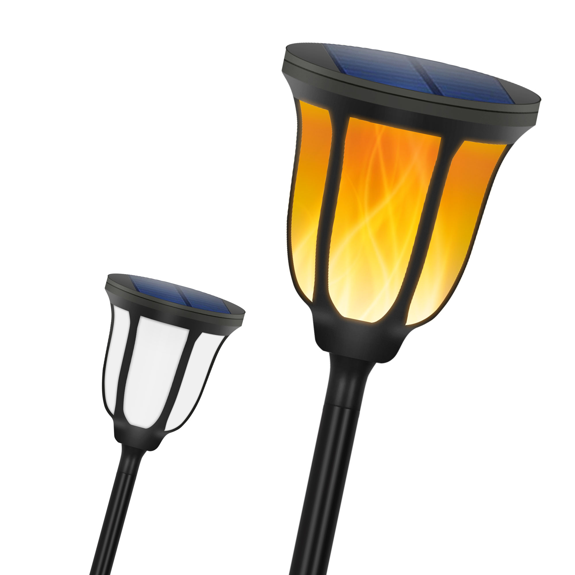 IP65 Solar Flame Lamp Waterproof LED Flickering Path Lighting Torch Light Spotlight Garden Decoration Landscape Light Lawn Lamp|Solar Lamps| |  - title=