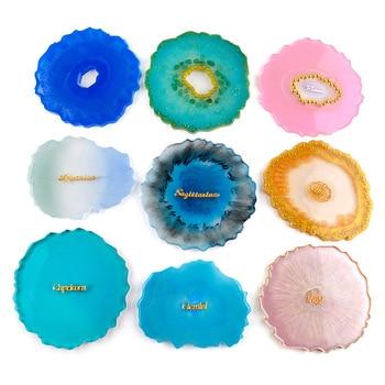 4pcs DIY Decorative Crafts Baking Tray Base Round Epoxy Resin Silicone Coaster Molds Set for Jewelry Making calico pattern coaster 4pcs