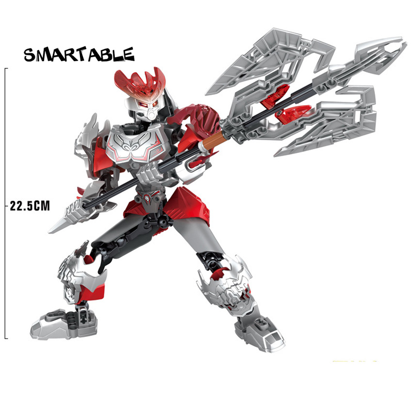 Smartable BIONICLE Fire Action Figures Building Block Toys Best Christmas Gift Compatible Major Brands BIONICLE Boy Battle Gift