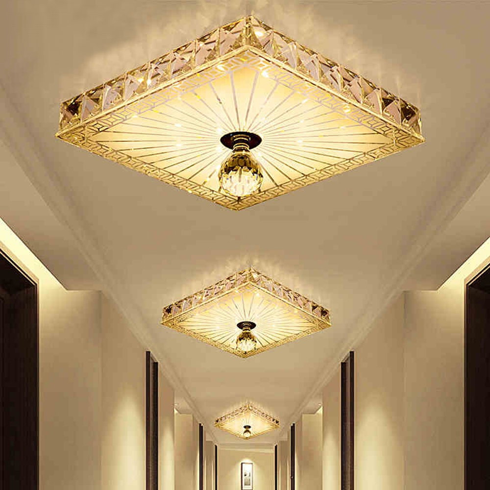 Modern LED Ceiling lights Aisle Veranda Lighting Down Crystal Mordern Surface Mounted LED Ceiling Lights for Modern LED Ceiling lights Aisle Veranda Lighting Down Crystal Mordern Surface Mounted LED Ceiling Lights for Living Room