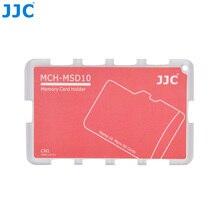 JJC MCH סדרת אשראי כרטיס גודל זיכרון כרטיס בעל אחסון עבור 10 מיקרו SD כרטיסי מצלמה אבזרים