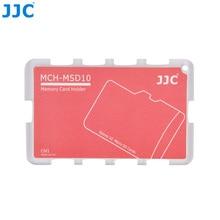 JJC MCH serii rozmiar karty kredytowej uchwyt na kartę pamięci do przechowywania przez 10 karty Micro SD akcesoria do aparatu