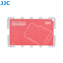 JJC MCH serisi kredi kartı boyutu bellek kart tutucu depolama 10 mikro SD kart kamera aksesuarları