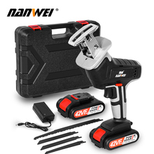 цена на Portable Lithium Battery Charging Reciprocating Saw Wood Cutting Power Tools Electric Saw with 4pcs Saw Blade