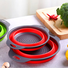Кухонные аксессуары инструменты складная корзина для мытья фруктов и овощей дуршлаг портативный дуршлаг складной Слив Кухонные гаджеты