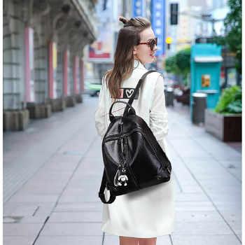 Backpack High Quality Youth PU Leather Backpacks for Teenage Girls Female School Bag Hot Sale For Women