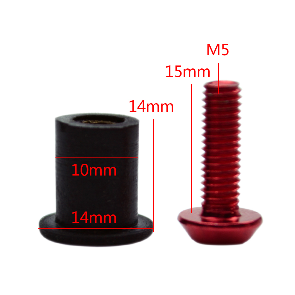2pcs Bicycle Water Bottle Holder Mount Bolts M5*10mm aluminium alloy Screw B9
