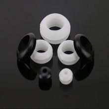 100 шт люверсы blakc белые резиновые кольца для кабеля двухстороннее