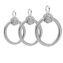 Jewelry Charm-Bead Hot-Sale Necklace O-Pendant DIY 925-Sterling-Silver Original Fit