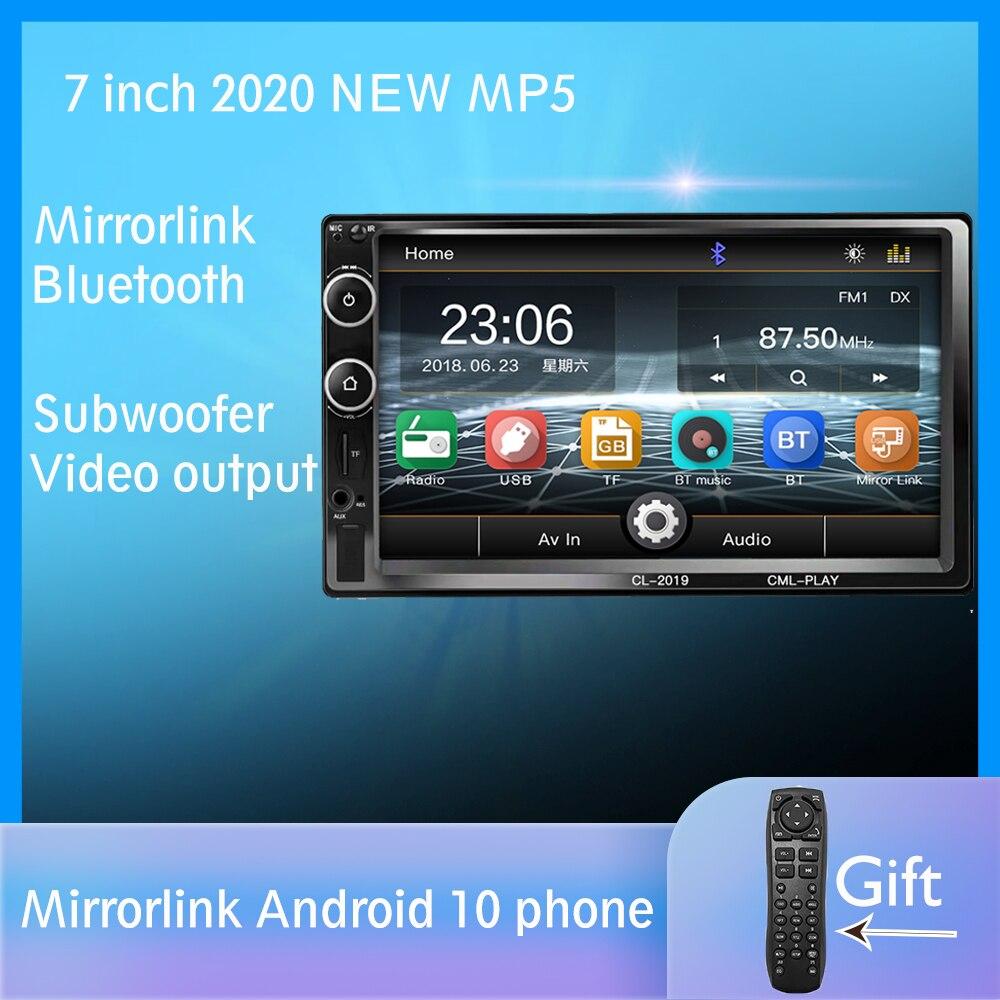 2 Din автомобильное радио Bluetooth Зеркало Ссылка Android 9 автомобильный мультимедийный плеер HD сенсорный Авторадио MP5 USB аудио стерео автомобильны...