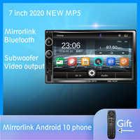 2 Din radio samochodowe z bluetooth Mirror link Android 9 samochodowy odtwarzacz multimedialny HD Touch Autoradio MP5 USB audio stereo Car Monitor