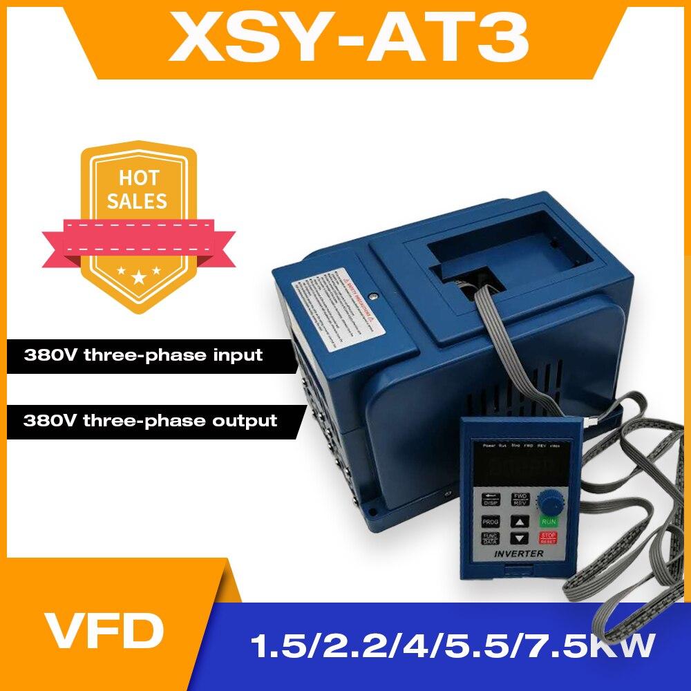 AC 380V VFD 1.5KW/2.2KW/4KW/5500W/7500W привод переменной частоты Бесплатная доставка 3-фазный регулятор скорости двигателя инвертор