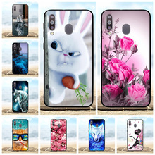For Samsung Galaxy M30 Cover Soft Silicone SM-M305F Case Rabbit Patterned A40s Coque