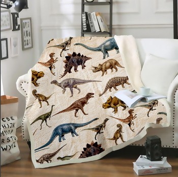 Dinosaur Animals 3D Print Winter Thin Quilt Soft Warm Throw Bedspread Blanket On Sofa Bed Chair Rest Bedding Adult Kids Decor soft spring autumn 4 color portable blanket fleece bedding throws on sofa bed car chair in living room plaids bedspread