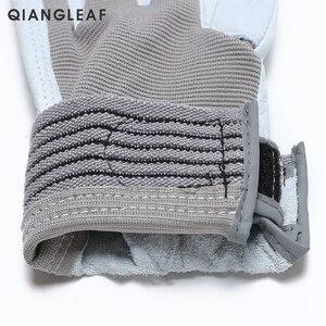 Image 3 - Qiangleaf 3 pçs venda quente d grau luvas de couro luvas de trabalho de segurança resistente ao desgaste luvas de trabalho masculino mitten frete grátis 508